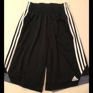 Adidas Climalite Men's Black White Striped Shorts